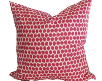 "Kravet ""Lysy"" pillow, Pink and White  100% Cotton"