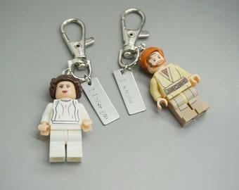 Star Wars Keyring - I Love you I know - The force awakens, luke skywalker princess leia Geeky Gift - Couples Gift - Husband Present