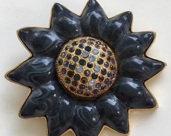 Vintage Sunflower Brooch