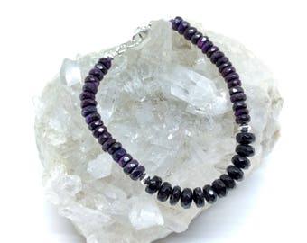 Sugilite and Black Tourmaline Bracelet