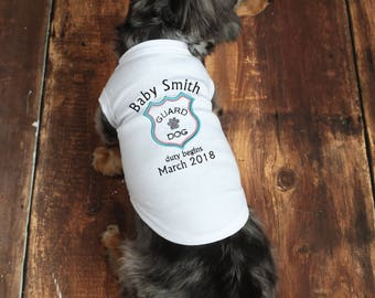 Dog Baby Announcement - Dog Pregnancy Announcement - Announcement Shirt - Dog Pregnancy Shirt - Dog Pregnancy Reveal - Big Brother Dog Shirt