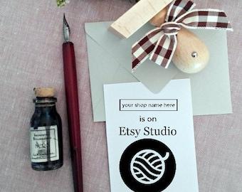 Custom Logo Stamp , Personalizable Logo Stamp ,Customizable Business Stamp  -1826140317-