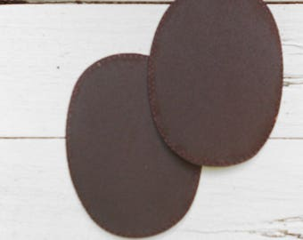 Set of two iron-on Brown