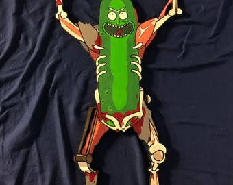 It's Pickle Rick! Painting Cut Out