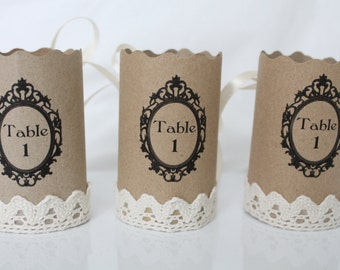 Number of table vintage napkin ring