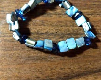 Beautiful blue glass bracelet