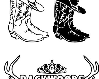 Boots and Hat Backwoods Princess