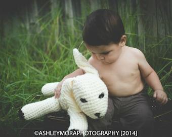 Kids Stuffed Lamb Sheep - Handmade Crochet Stuffed Animal - Amigurumi - Plush Sheep - Nursery Decor