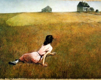 Andrew Wyeth Painting Print on Canvas Ready to Hang Museum Quality Girl Field