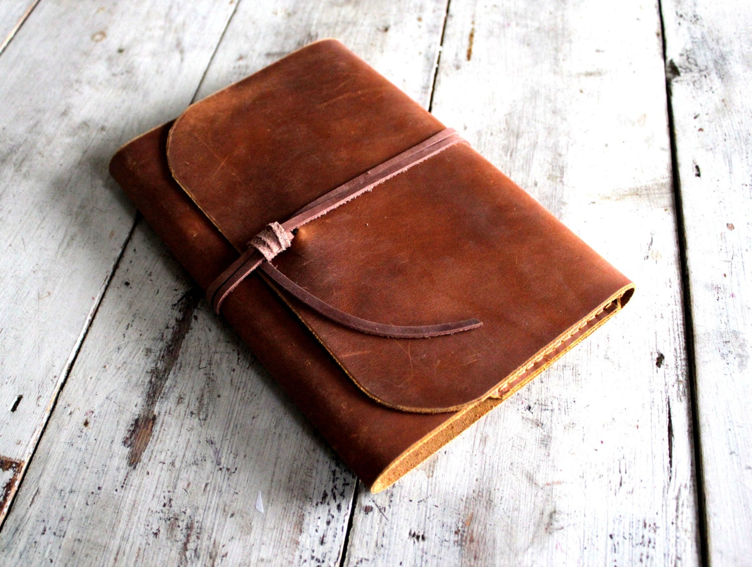 Leather Book Cover Photo Tutorial : Refillable leather journal a