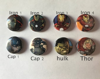 Avengers one inch buttons/pins
