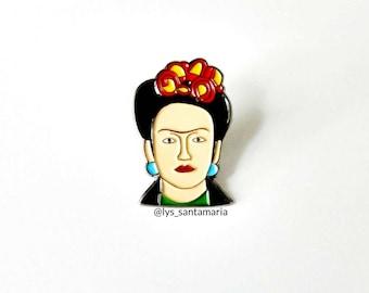 Frida Kahlo Pin | Enamel Art Pin | Cute Frida Kahlo Lapel Pin | Latina Pin | Mexican Artist Pin | Woman Enamel Pin | Frida Stocking Stuffer