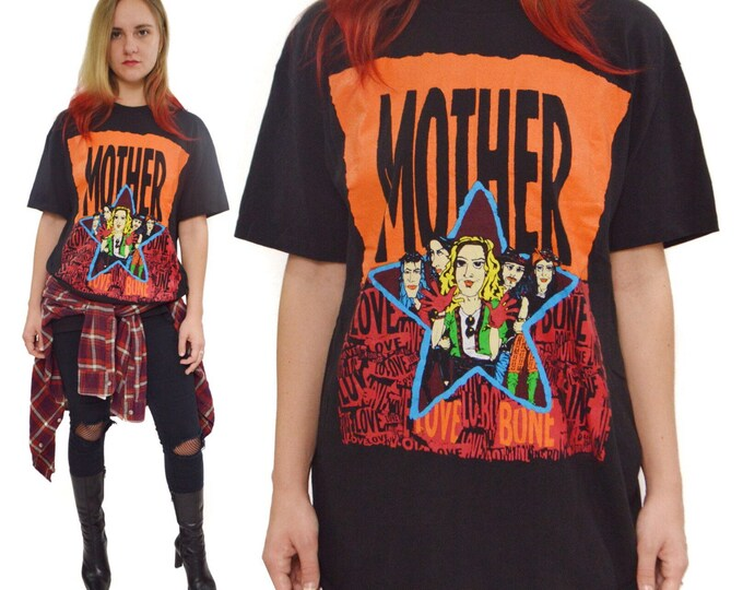 Vintage 90s Mother Love Bone Alternative Rock T Shirt Sz L