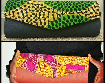 Medium Ankara Clutch / African Print Purse (MAC3)