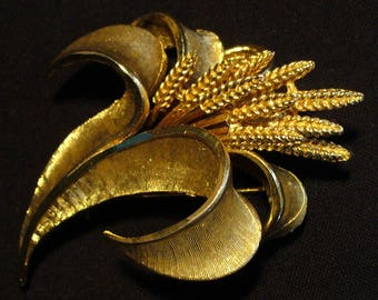 Two Vintage Gold Plated Brooches