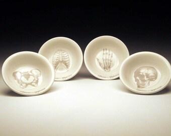 BONE APPETIT dipping bowl Set of 4 in GREY