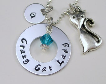 Cat Lover Gifts Cat Lady Cat Lover Gift Jewelry Personalized Gift Personalized Jewelry  Christmas Gift