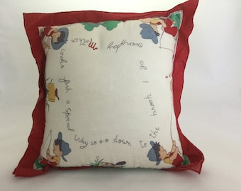 Vintage Handkerchief pillow by TWO's Company
