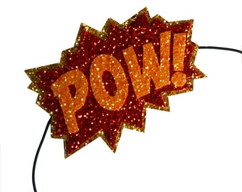 10% off with the code BDAY10  Glittered Comic Book POW Headband