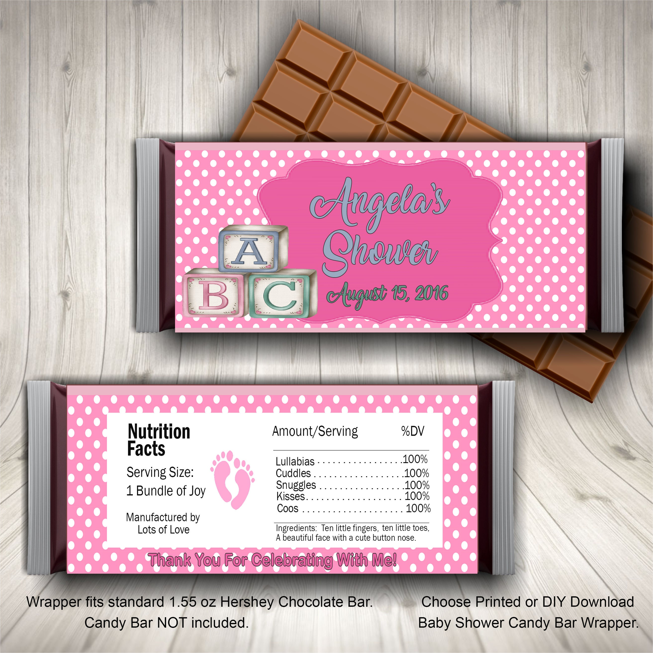 Baby Shower Candy Bar Wrapper Baby Shower Candy Wrappers