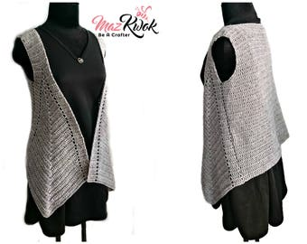 Crocheted Pointed Hem vest ( version 2 ) - free worldwide shipping
