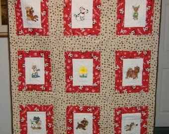 Puppy baby quilt