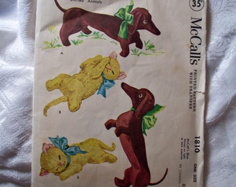 VINTAGE 1953 Sewing pattern, McCalls 1810 - Pattern cut but pieces intact