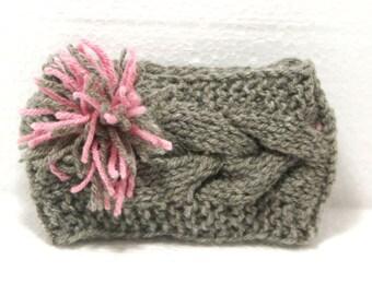 """Baby Knit Headband: """"GRAY BABY HEADBAND"""" Knit Baby Headband Baby Knit Headband Baby Girl Headband Newborn Knit Headband Knit A104"""
