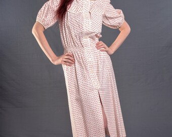 Late 70's or early 1980's DEADSTOCK, Vintage VALENTINO BOUTIQUE Dress, 100% Cotton Sweetheart Dress, Size Medium