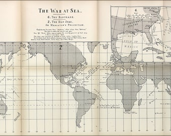 Poster, Many Sizes Available; American Civil War At Sea Map 1863