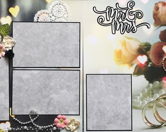 Mr and Mrs Wedding Scrapbook Page Kit