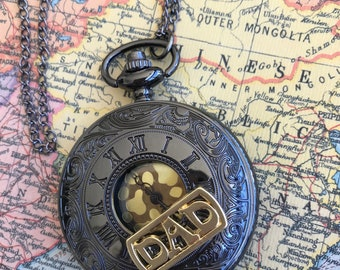 Pocket Watch, Steampunk Jewelry,Watch, Necklace, Gothic, Men's Gifts, Dad, Groomsman Gift, Men's Jewerly, Woman's Jewelry