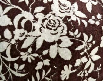 Stretch Floral Cotton/Spandex Corduroy.