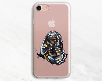 Black Butterfly iPhone 7 Case Clear iPhone 6 Case Clear iPhone 6 Plus Case Clear iPhone 7 Plus Case Clear iPhone Case Clea