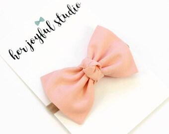 Peach Baby Headband - Infant Headband - Baby Photo Prop - Baby Hair Bow, Infant Headband, Baby Bow Headband, Peach Bow, Hair Bows CREAMSICLE