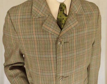 Hard to find, a proper one Shorty Mac, Fabulous check for a wool mixture, side vents