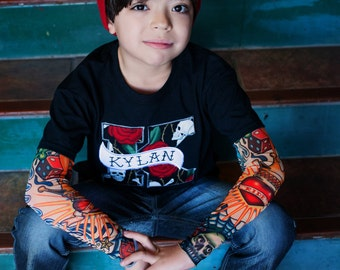 Personalized Applique Tattoo Sleeve Shirt
