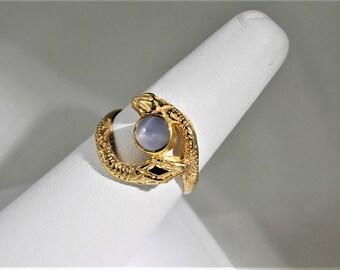 Star Sapphire Snake Ring