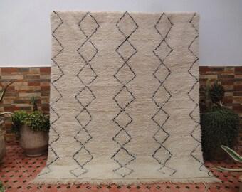 beni ourain rug vintage 100% WOOL moroccan berber