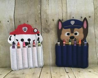 Paw Patrol crayon holder