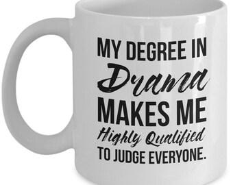 Drama Mug, Drama Gift, Actor Gifts, Actor Mug, Acting Gift, Acting Mug, Drama Degree, Personalized Actor, Drama Graduation gift, Actor