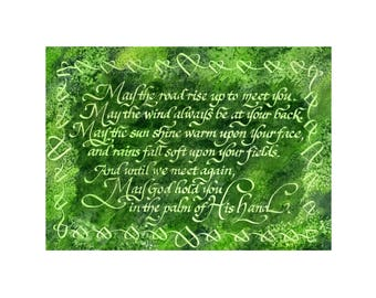 Irish Blessing 11 x 14 matted print