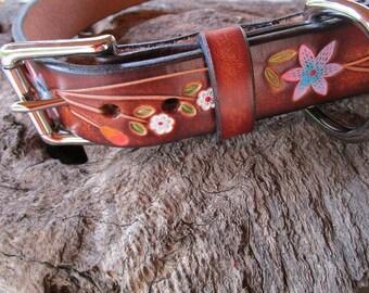 DOG COLLAR, Handmade Dog Collar, Dog Gift, Custom Dog Collar, Leather Dog Collar, Dog Collar, FREE Shipping!