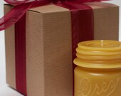 """Gift Wrapped - Beeswax Candle Collection - """"Drey Mason 1/2 Pint"""" - by Pollen Arts"""