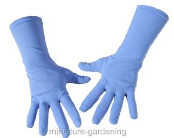 Gardening Gloves, Periwinkle Blue, Size Options: Medium