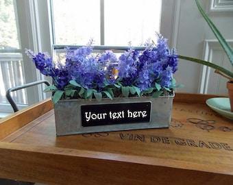 LIGHTED CUSTOMIZABLE Farmhouse Table Decor-Farmhouse Centerpiece-Farmhouse Metal Decor-Farmhouse Decor-Farmhouse Lavender Decor Arrangement