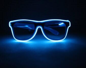 Blue Light Up Glasses - Festivals, Birthdays, EDM, Bachelorette Parties, Halloween, Batteries Included