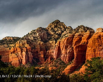Curdled Red Mountain : Color or Black and White
