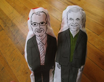 Joe Cressy and Mike Layton finger puppets