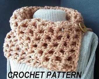 PATTERNS CROCHET SCARF- Num. 73.... Chunky style, Beginner level Instant Download